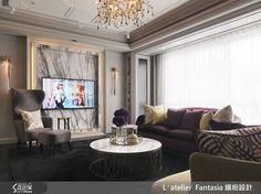 奢華風的裝潢圖片為L′atelier Fantasia 繽紛設計的設計作品,該設計案例是一間新成屋(5年以下)總坪數為47,格局為三房,更多L′atelier Fantasia 繽紛設計設計案例作品都在設計家 Searchome