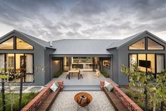 Inspired by the classic Australian homestead the Montello brings modern country living to life. Australian Country Houses, Country Modern Home, Modern Barn House, Barn House Plans, Australian Homes, Dream House Plans, Modern House Plans, Modern House Design, Country Living