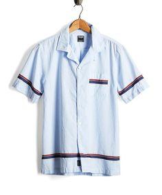 YUNY Men Printed Casual Folk Style Fashion Notch Collar Mid-Long Top Shirt Black S