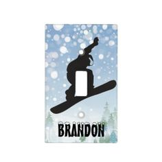 Snowboarding Design Light Switch Cover