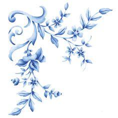 Flower Stencils | Floral Embroidery Corner | Royal Design Studio