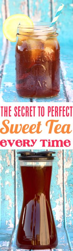 Iced Tea Recipes Homemade! This secret ingredient is the trick to perfect Sweet Tea every time! Give this recipe a try for the best tea you've ever made!