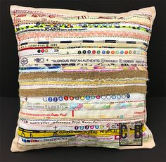Sew a Pillow Front From Selvage Pieces - The Creative Studio