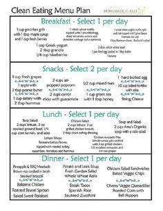 Simple diet program