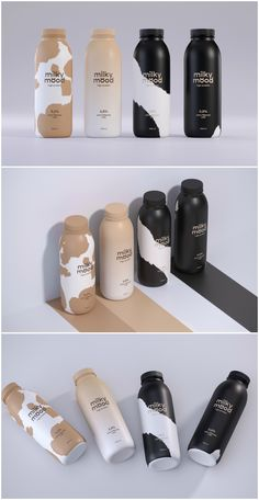 Milky Mood Student Packaging Design - World Brand Design Honey Packaging, Juice Packaging, Cool Packaging, Food Packaging Design, Beverage Packaging, Bottle Packaging, Packaging Design Inspiration, Brand Packaging, Branding Design