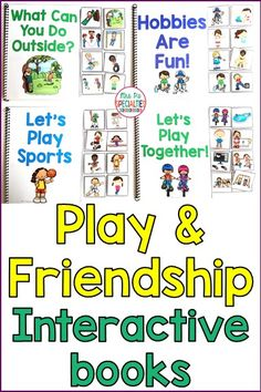 Teach students the functional vocabulary needed to build play and social skills with these interactive books. These adapted books are designed especially for students with autism, special education classrooms, speech therapy, self-contained classes and life skills programs.