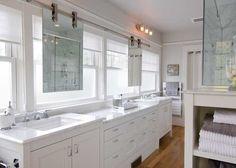 barn door hardware on mirror reference for glass enclosure showerbath in bath