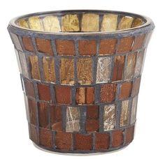 Brown Mosaic Votive Holder $4.95 Pier 1 Imports