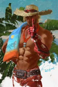 McCree's summer games skin<<< who drew this because they are amazing