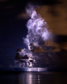 Lightning Storm near Grand Cayman Island - 37 crazy pictures of storms from around the world via Matador Network