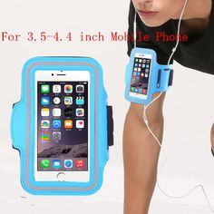 Gym Arm Band Workout Cover Sport arm Case For iPhone 5c 5s 5 4s 4 Running Bag For 3.5-4.4 inch Mobile Phone <