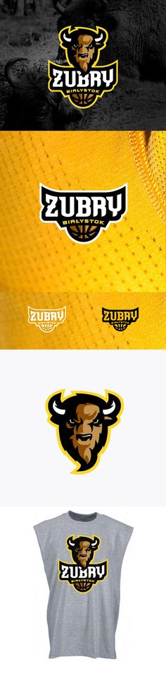"""Zubry Bialystok"" - Awesome Sports Logo Designs by Kamil Doliwa 