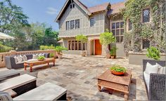 Stone...so if I spend $150,000 on a patio (probably much more) I don't have to spend the money to mow grass.