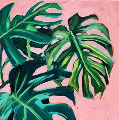Gallery - Sari Not Sorry Art by Sari Shryack Plant Painting, Plant Art, Painting Inspiration, Art Inspo, Guache, Tropical Art, Painted Leaves, Leaf Art, Beautiful Drawings
