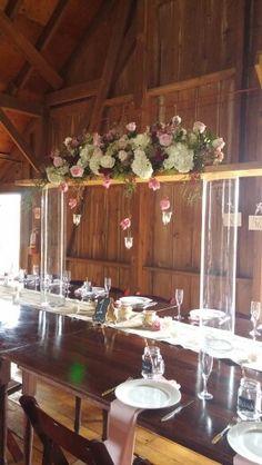 Barn setup for wedding