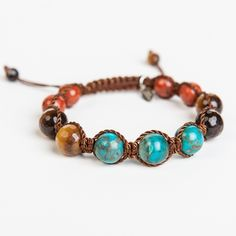Tap into the vast potential you possess with the help of turquoise, tigers eye, and red jasper stones.