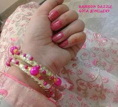 "45 Likes, 2 Comments - Rainbow Dazzle Gota Jewellery (@dazzling_rainbow) on Instagram: ""Feedback of these Fuschia Pink beaded bangles by @the_skylark_21 .. . #instafav #instadaily…"""