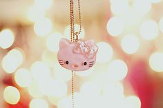 cute, hello kitty, necklace