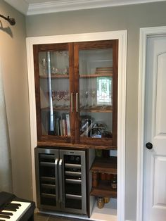 DIY Home Decorations Blog  Diy built in curio walnut cabinet with wine cooler my first walnut project!!!  http://ift.tt/2pvn4c0