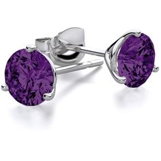 7mm Amethyst Stud Martini Round Earrings in 14k White Gold ($349) ❤ liked on Polyvore featuring jewelry, earrings, amethyst stud earrings, round stud earrings, white gold jewellery, earring jewelry and 14 karat white gold earrings