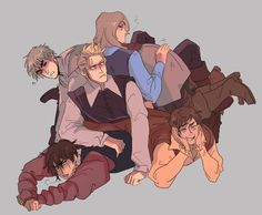 Hetalia - England,Netherlands,France,Spain and Portugal❤