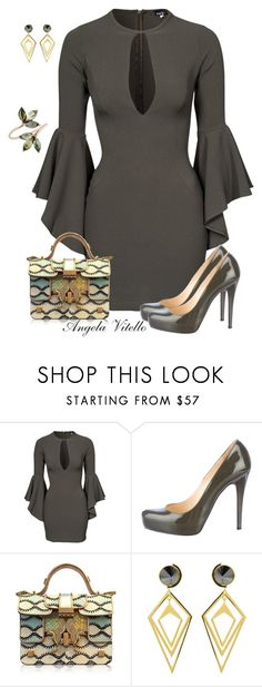 """Untitled #659"" by angela-vitello on Polyvore featuring John Zack, Christian Louboutin, Giancarlo Petriglia, Sarah Magid, women's clothing, women's fashion, women, female, woman and misses"