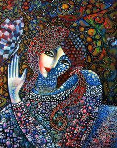 Mosaic Midsummer Nights Dream by Jasmin Aldin Tile Art, Mosaic Art, Mosaic Glass, Glass Art, Stained Glass, Anais Nin, Mosaic Portrait, Mandala, Midsummer Nights Dream