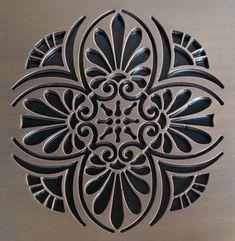 greek anthemion shower drain by designer drains - nice pattern Wall Stencil Patterns, Stencil Designs, Unclog Shower Drains, Bathroom Drain, Bathrooms, Master Bathroom, Stencils, Drain Cover, Dream Bath