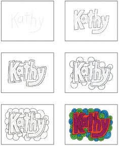 Doodle Name Art · Art Projects for Kids