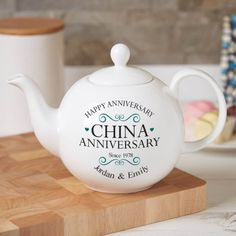 Beautiful premium quality personalised gifts to celebrate a traditional 'china wedding' anniversary. 20th Wedding Anniversary Gifts, Wedding Aniversary, Anniversary Parties, Happy Anniversary, Personalized Wedding Gifts, China, Detroit, Clothes, Porcelain Ceramics