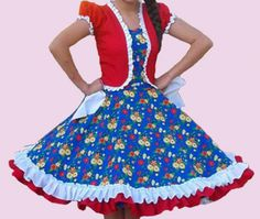 Huasa chilena, Vestidos de china - Infantil