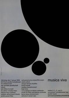 Josef Muller-Brockmann Swiss concert poster: