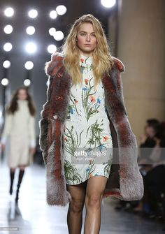 cae8111743 A model walks the runway at the TOPSHOP Unique show during London Fashion  Week Fall Winter at Tate Britain on February 2015 in London
