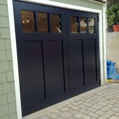 Craftsman style swing out carriage garage doors. | Yelp & Building carriage doors from scratch - The Garage Journal Board ...
