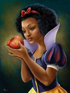 Snow black, the poison Afro Black Love Art, Black Girl Art, Black Is Beautiful, Black Girls, Simply Beautiful, Naturally Beautiful, White Art, White White, Absolutely Stunning