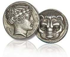 Coin originated in Rhegion region – modern day Reggio, Italy – was struck between 415 and 387 BC; offered as part of Heritage ANA World Coin event