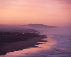 ocean beach fog bank sunrise by louie imaging, via Flickr