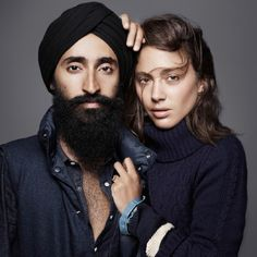 "Arsalan Iftikhar, senior editor at The Islamic Monthly posted a picture of a defaced version of this Gap add featuring Sikh actor and jewelry designer Waris Ahluwalia to his Twitter and Facebook. The caption was changed from ""Make Love"" to ""Make Bombs,"" and also said ""Please stop driving TAXIS."" Gap responded by changing their twitter background to Ahluwalia's poster."