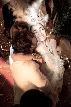 Patagonian Pairing: Sofía Sanchez Barrenechea and Alexandre de Betak's Wedding – Vogue Weddings - Custom Rodarte Gown - Rodarte Dress - Carnival Crown - Cotillon