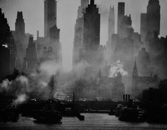 Andreas Feininger  Midtown Manhattan seen from New Jersey  1942