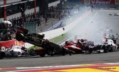 Crash F1 Belgium Grand Prix