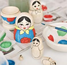 Paint Your Own Matryoshka Kit