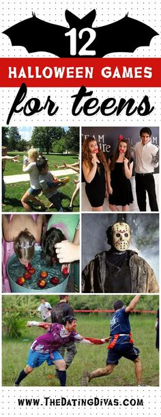 Halloween Games for the Whole Family - The Dating Divas These ideas are perfect for a teen Halloween party! These ideas are perfect for a teen Halloween party! Halloween Designs, Halloween Tags, Teen Halloween Party, Halloween Party Activities, Casa Halloween, Haloween Party, Halloween Games For Kids, Hallowen Costume, Halloween Costumes For Teens