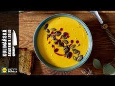 Dýňová polévka s kokosovým mlékem - Roman Paulus - Kulinářská Akademie L... Lidl, Cheeseburger Chowder, Soups, Roman, Pudding, Youtube, Desserts, Food, Tailgate Desserts