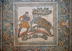 Pictures of Roman Mosaics Merida Museum , Spain - Stock Photos | Photos Gallery