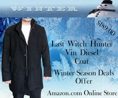 #LastWitchHunter #VinDiesel #Coat Black Wool Fabric #WinterSeason Deals Offer #DiscountedPrice at #Onlinestore Amazon.com  #heros #celebs #celebritie #amazon #cosplay #shoppingseason #amazing #movie #hollywood #entertainment #streetwear #FashionBlog #FashionBlogging #FashionKids #Stylish #FashionStyle #Vintage #DressUp #Collection #Outfit