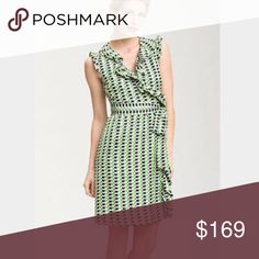 🎉Host Pick🎉 Kate Spade Aubrey Silk Wrap Dress Stunning Kate Spade printed silk fully lined wrapped dress with ruffles. This stunning dress looks amazing on and is in like new condition.  No longer available. kate spade Dresses Midi