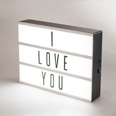 Inspired by old Hollywood vintage cinema, The Original Cinema Lightbox allows you to make your own marquee. Simply slide the interchangeable clear plastic letters and. Quirky Home Decor, Diy Home Decor, Message Light Box, My Cinema Lightbox, Cinema Sign, Modern Kids Bedroom, Bedroom Ideas, Bedroom Decor, Battery Powered Led Lights