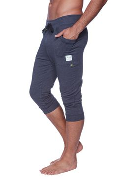 Cuffed #Yoga #Pants for #men (Solid Charcoal) | Take it at the - yoga-eco-clothing.com/product/cuffed-yoga-pants-for-men-solid-charcoal/  #organic #fitness #clothing #apparel #fitnessapparel  #fashion