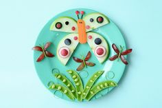 Creative Food Plate: A Summer Butterfly